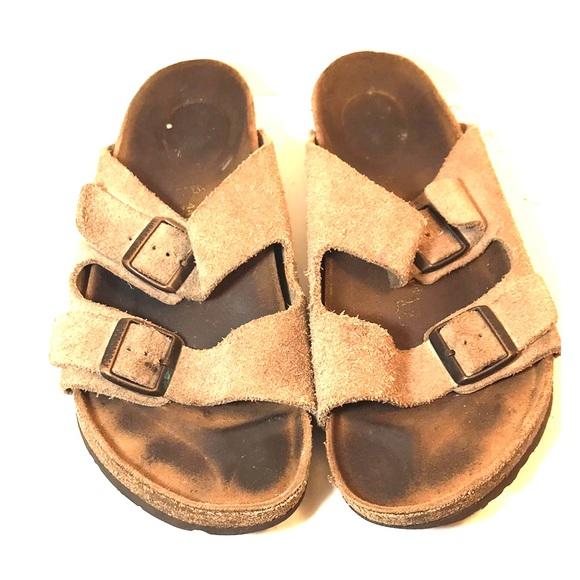 Birkenstock Other - Birkenstock Arizona Men's Tan Double-Strap Sandals